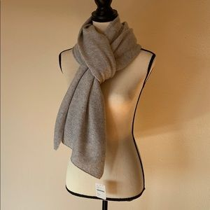 NWT Free People Cashmere Blanket Scarf (Grey/OS)